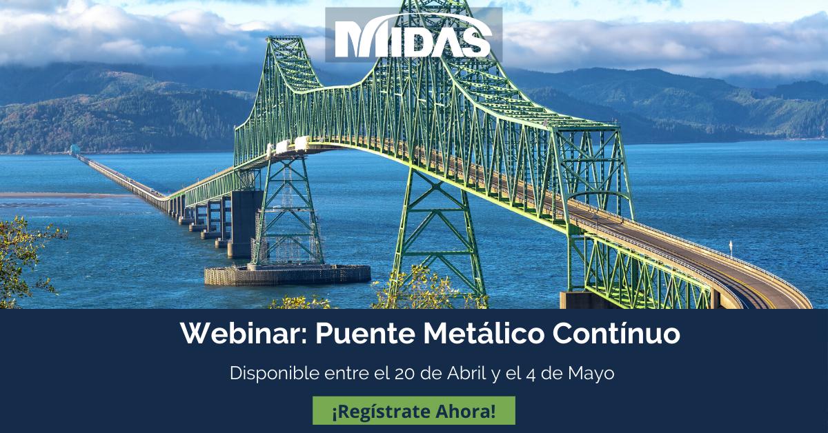 Puente metálico continuo en midas Civil