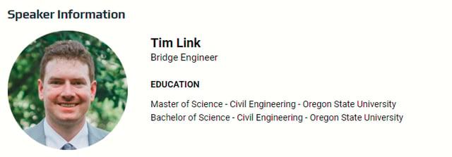 Speaker Information: Tim Link