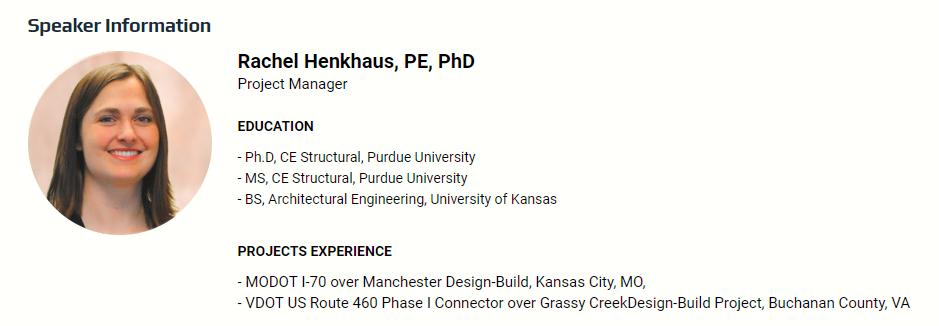 Speaker Information: Rachel Henkhaus
