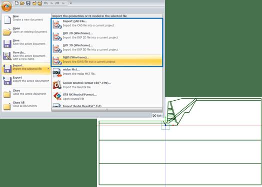 Integración CAD con midas GTS NX