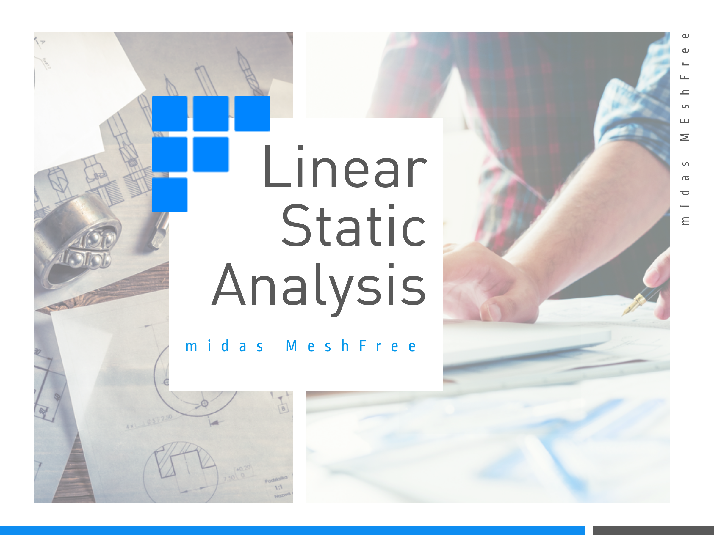 Linear Static Analysis with midas MeshFree (Slide 1)
