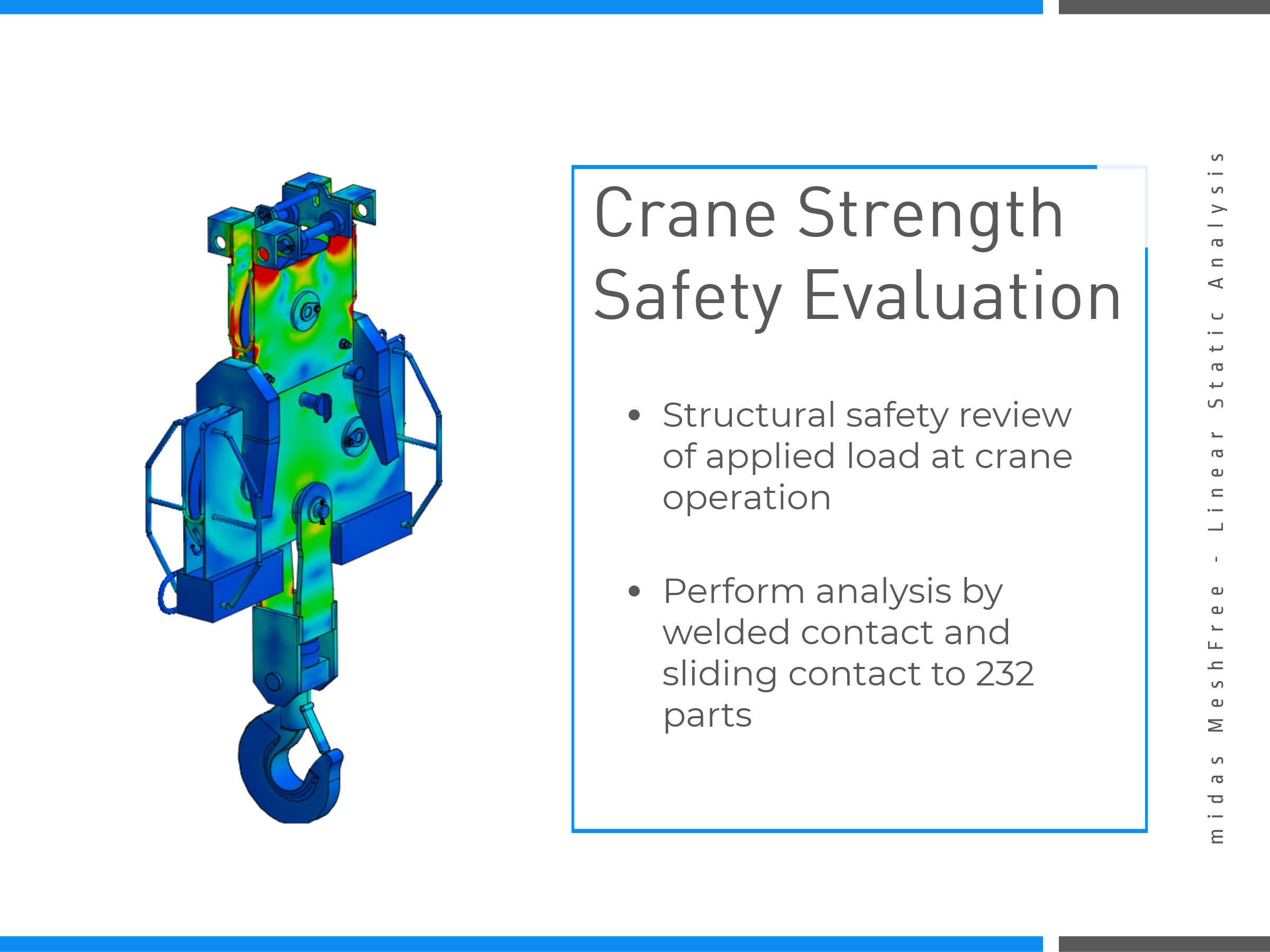 Crane Strength Safety Evaluation on MeshFree (Slide 3)