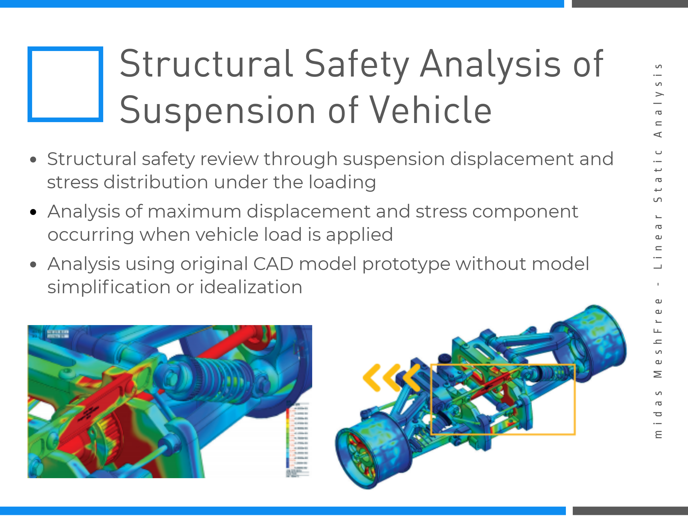 Structural Safety Analysis of Suspension of Vehicle on MeshFree (Slide 5)