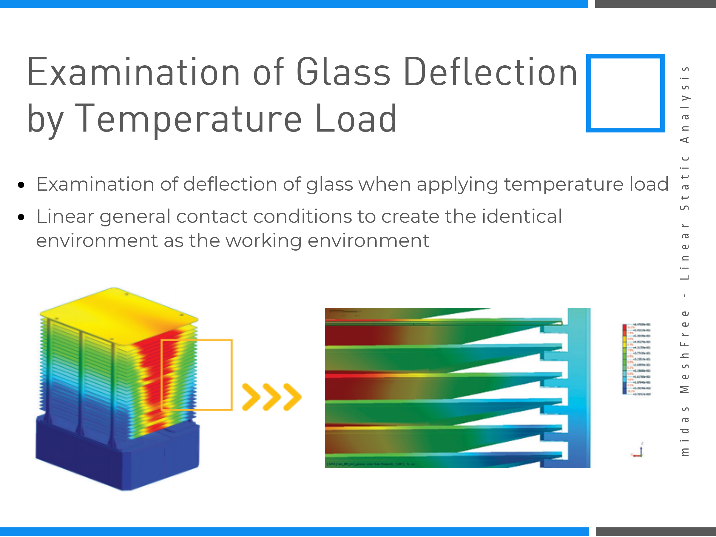 Examination of Glass Deflection by Temperature Load on MeshFree (Slide 6)