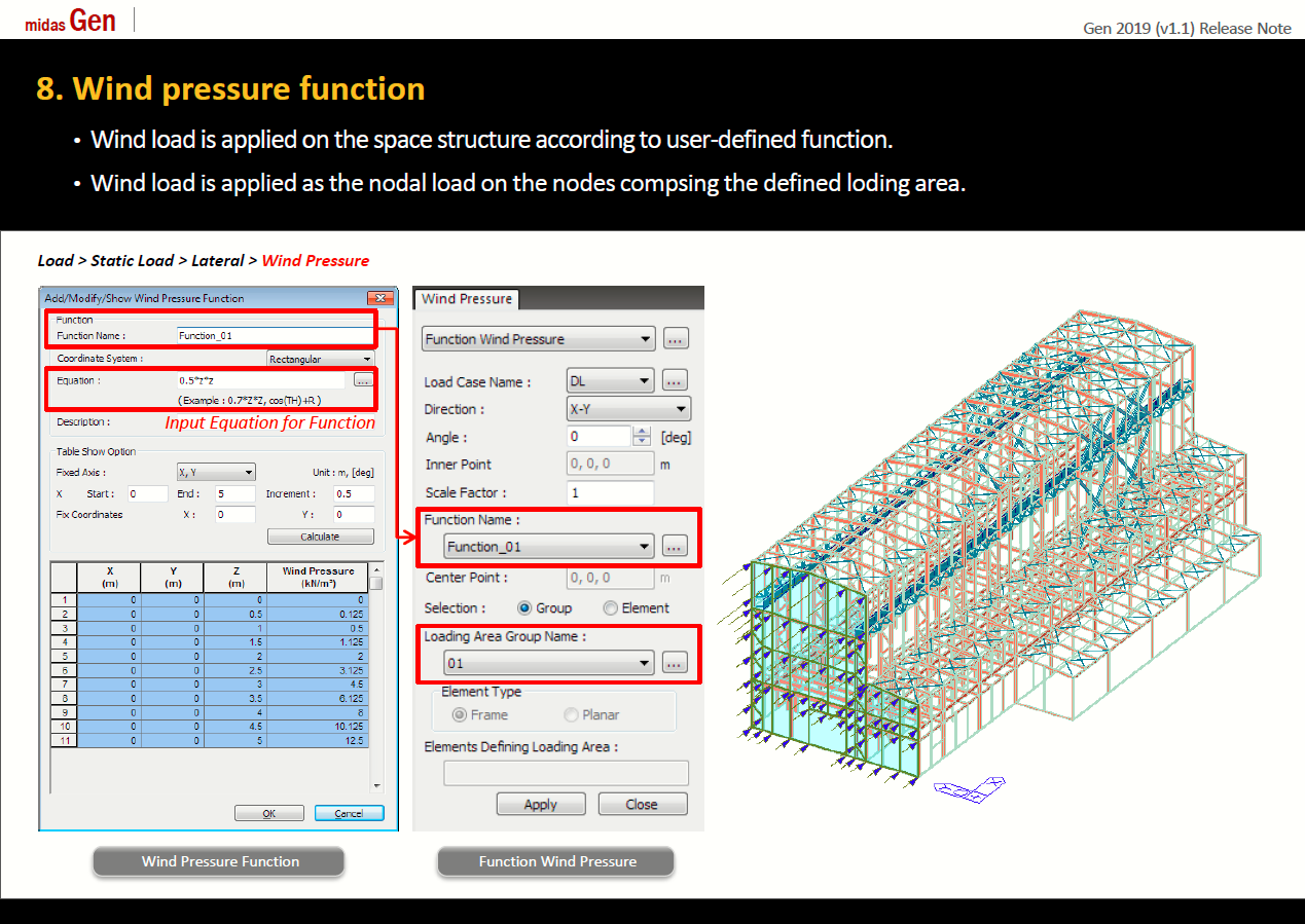 midas Gen and Design+ 2019 v1 1 Release: New Features