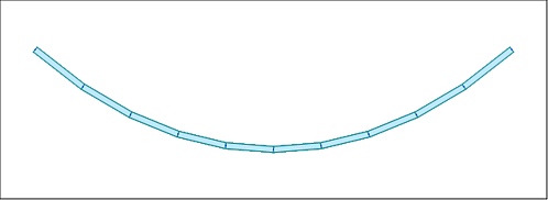 Single cable modeling with multiple nonlinear/linearized truss elements.