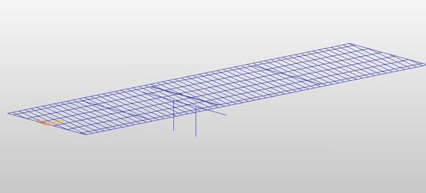 "2D ""all frame"" composite bridge model shown in midas Civil."