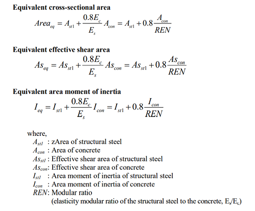 midas Civil analysis reference guide pg. 84 - stiffness of composite sections
