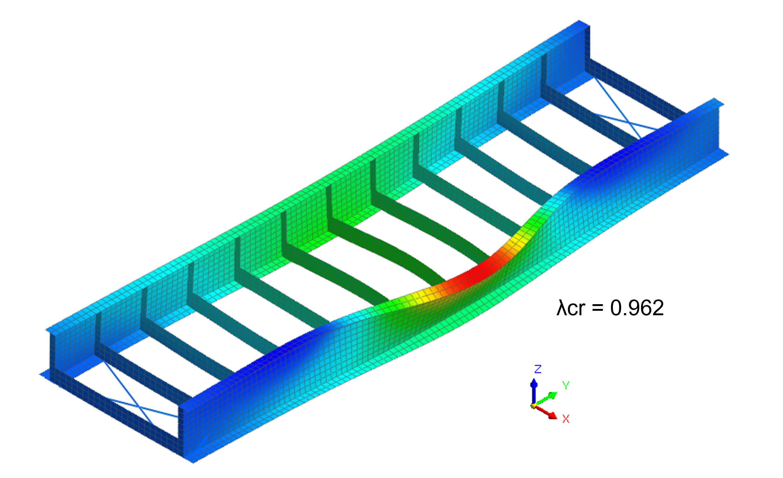 Midas FEA NX: Steel Bridge Nonlinear Buckling Analysis