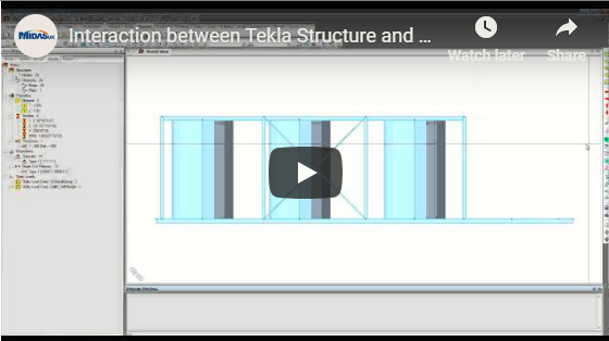 Interaction between Tekla Structure and midas Gen