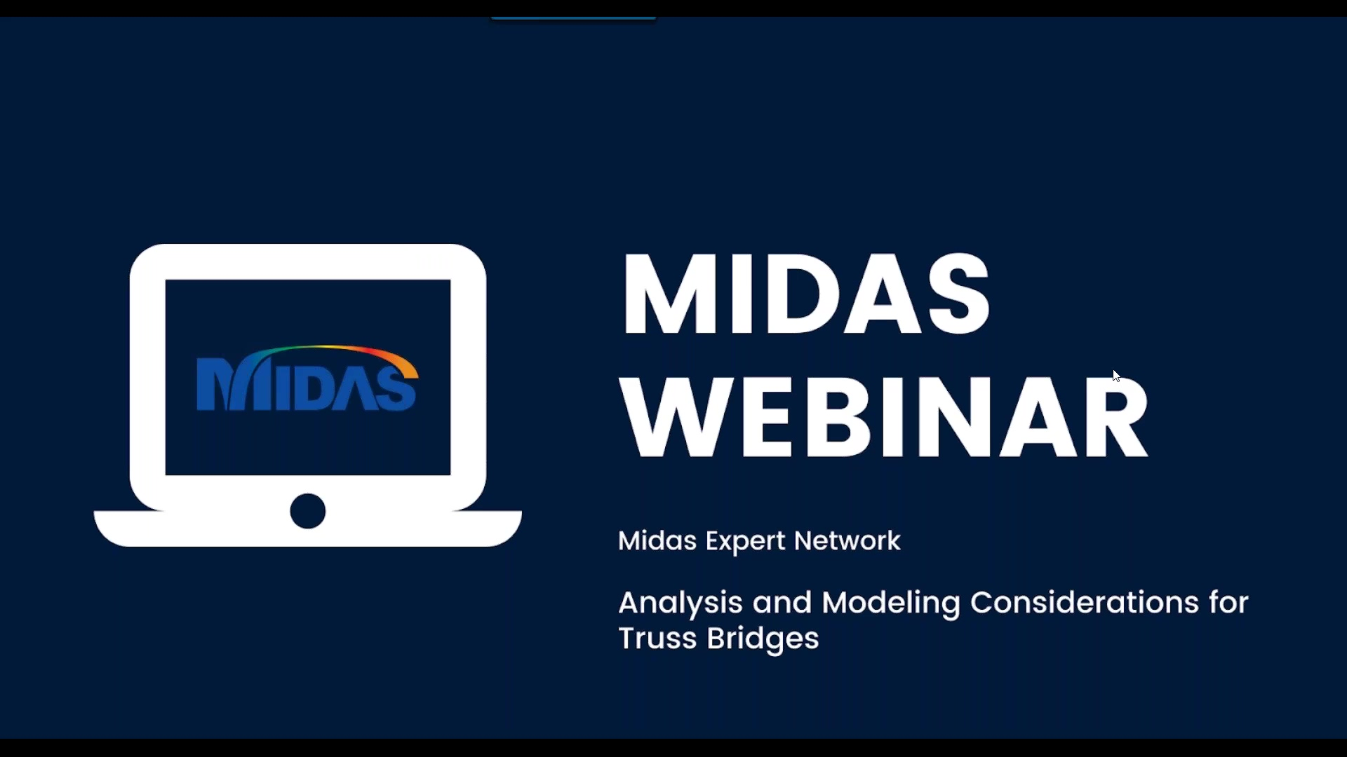 Webinar: Analysis and Modeling Considerations for Truss Bridges