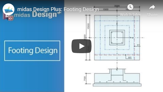 Footing Design with Design+