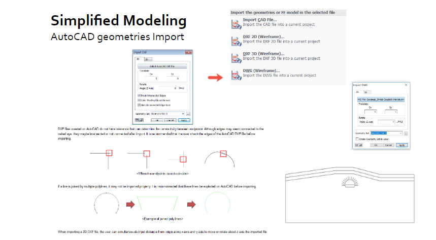 Simplified Modeling: AutoCAD geometries import