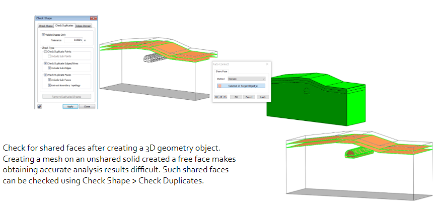 Check for shared faces after creating a 3D geometry object