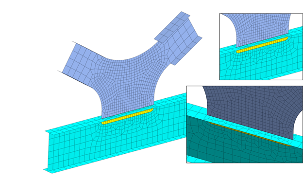 Midas FEA NX: Ensuring Element Quality for Mesh Size Transition